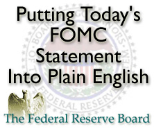 Federal Reserve FOMC statement
